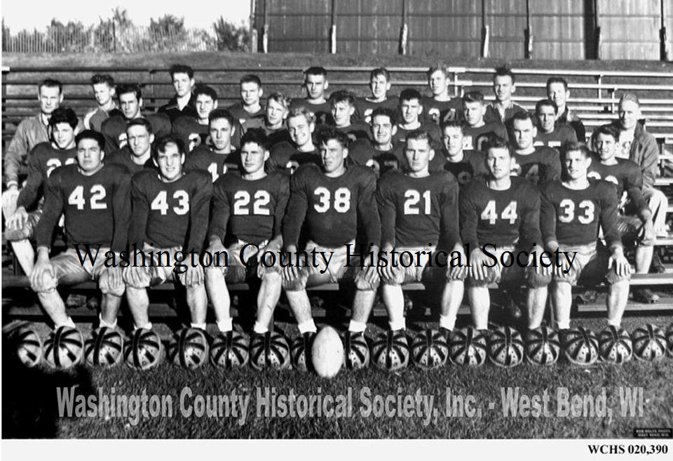 West Bend High School's A Team from the 1951 football    season!