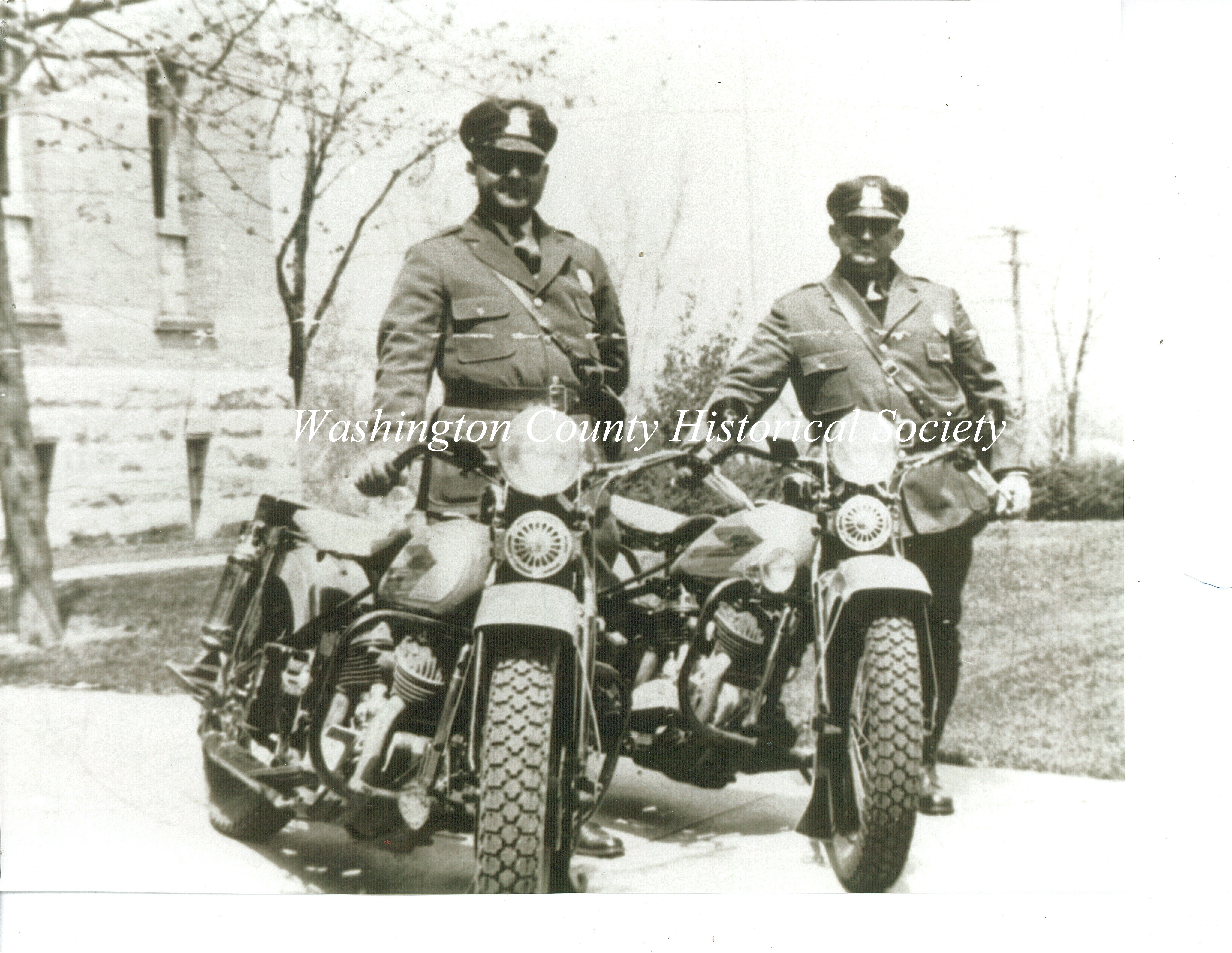 motorcycle cops 1935 George Brugger and Bill Johnson  copy