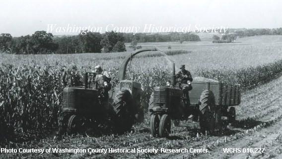 1945 Gehl Forage Harvester in operation