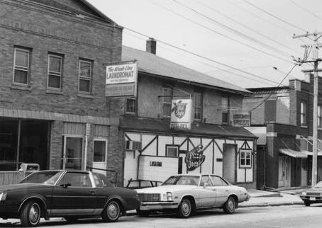 Pizza Joe's circa 1977 One of Barton's original buildings,  it was built in 1850 as a general store by John Reisse. photo courtesy  Wisconsin Historical Society